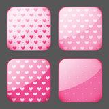 Apps icons. Set of pink apps icons royalty free illustration