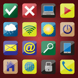 Apps ikony set Obraz Stock