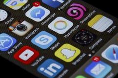 Apps IPhone стоковые фотографии rf