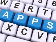 Apps Keys Shows Web Application Or Applications Stock Images