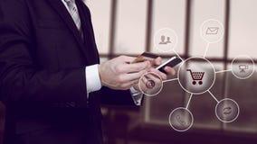 Apps móveis c do smartphone do desenvolvimento de aplicações sem fio do Internet da tecnologia digital de rede de comunicação do  fotos de stock