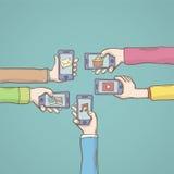 Apps móviles Illustrtion del vector Fotos de archivo