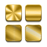 Apps metal icon set Royalty Free Stock Photos