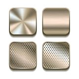 Apps metal icon set. Stock Images