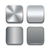 Apps metal icon set. Royalty Free Stock Photo