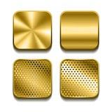 Apps metalu ikony set Zdjęcia Royalty Free