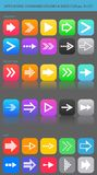 Apps navigation icons set with arrows for UI. Stock Photos