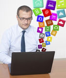 Apps in the Office Royalty Free Stock Photography