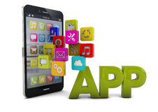 Apps phone Royalty Free Stock Photography