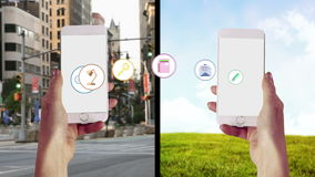 Apps que transfiere a partir de un smartphone a otro almacen de video