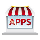 Apps shop window Stock Image