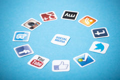 Apps sociali di media Fotografia Stock