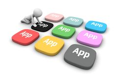 Apps of the new software standard Stock Images
