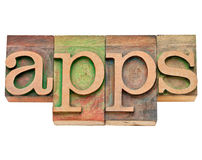 Apps - software for mobile devices Royalty Free Stock Photo