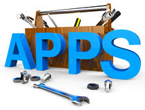 Apps Software Represents Freeware Internet And Computer Royalty Free Stock Photo