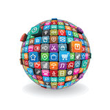 Apps Sphere Vector Royalty Free Stock Images