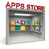 Apps store room over white Stock Photography