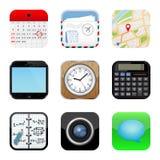 Apps symbolsuppsättning Royaltyfri Bild