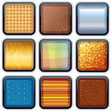 Apps Textured Buttons 1 Royalty Free Stock Images