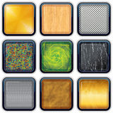 Apps Textured Buttons 3 Stock Photo