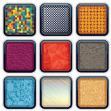 Apps Textured Buttons 4 Royalty Free Stock Photo