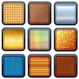 Apps texturerade knappar 1 Royaltyfria Bilder