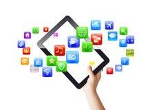 Apps u. Auflage Stockfotografie
