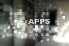 Apps utvecklingsbegrepp Affärs- och internetteknologi Royaltyfri Foto