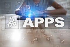 Apps utvecklingsbegrepp Affärs- och internetteknologi Royaltyfri Bild