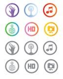 Apps y aparatos del teléfono móvil Imagen de archivo libre de regalías