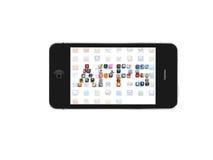 appssymbolsiphone Fotografering för Bildbyråer