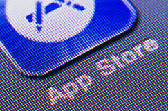 AppStore Icon. Macro photograph of the appstore icon, taken from an iPhone Stock Image