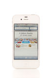 AppStore Milestone. AppStore 25 Billion Downloads Headline on iPhone 4S Royalty Free Stock Photography