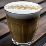 Appuccino Ð ¡ in glas Stock Afbeelding