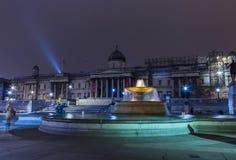 Appui Belgique de National Gallery avec les lumières changeantes de noir, jaunes et rouges Photos stock