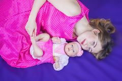 appui de mère et appui Image libre de droits