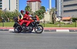 Appui de moto à la La Vuelta Photo libre de droits