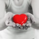 Appui rouge d'amour de santé de forme de coeur Photos libres de droits