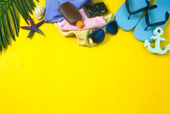 Appui vertical d'été coloré Photographie stock libre de droits