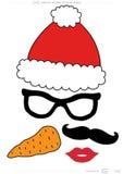 Appui vertical imprimable de cabine de photo de collection de Noël illustration stock