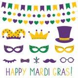 Appui verticaux de cabine de décoration et de photo de Mardi Gras illustration libre de droits