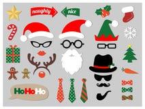 Appui verticaux de cabine de photo de Noël Images libres de droits