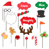 Appui verticaux de cabine de photo pour le Joyeux Noël illustration de vecteur