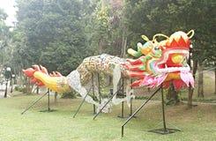 Appui verticaux de danse de dragon Photos stock