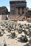 Appuis de bougie faisant dans le bhaktapur, Népal Photos libres de droits