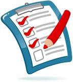 Appunti con la lista di controllo Fotografie Stock Libere da Diritti