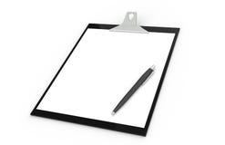 Appunti con la penna illustrazione di stock