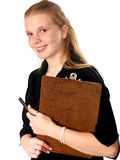 Appunti della giovane donna Immagine Stock