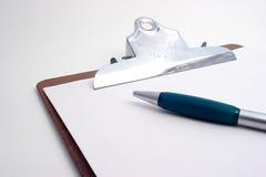 Appunti di progetto con la penna Fotografia Stock
