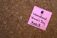Appunto: Il giorno delle donne del mondo Fotografia Stock